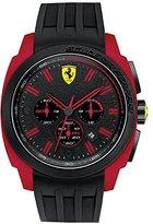 Ferrari Scuderia Men's Chronograph Aerodinamico Black and Red Silicone Strap Watch 46mm 830115