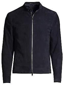Theory Men's Wynwood Suede Moto Jacket