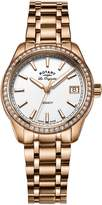 Rotary Watches Women's Legacy Rose Gold Plated Bracelet Watch