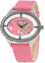 Ed Hardy Women's SG-BF Calf Skin Quartz Watch with Dial