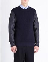 Junya Watanabe Contrast-sleeve wool jumper