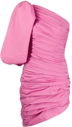 Giuseppe di Morabito One-Shoulder Balloon Sleeve Dress