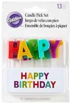 Wilton Happy Birthday Candle Pick Set 13 ct