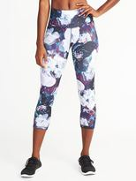Old Navy High-Rise Floral-Print Compression Crops for Women