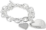 GUESS Logo Heart Multi Chain Toggle Bracelet