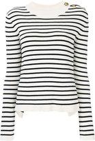 RED Valentino striped jumper - women - Cotton/Polyamide - S