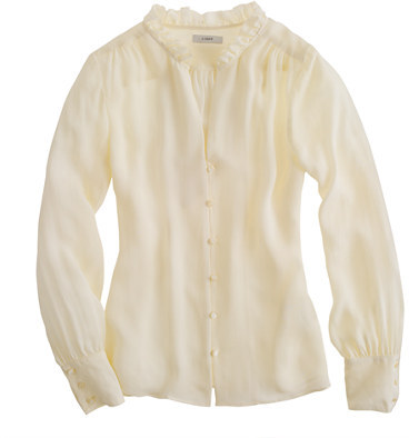 J.Crew Collection silk georgette blouse