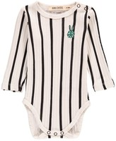 Bobo Choses Striped Organic Cotton Bunny Logo Body