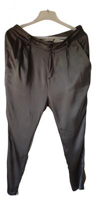 Stefanel Grey Silk Trousers