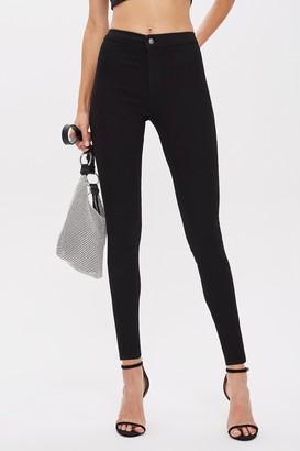 Topshop Womens Tall Black Holding Power Joni Skinny Jeans - Black