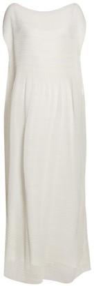 The Row Prado Plisse Crepe Maxi Dress - Womens - Ivory