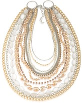 ABS by Allen Schwartz Multi-Row Two-Tone Necklace, 16""