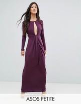Asos Slinky Deep Plunge Maxi Dress