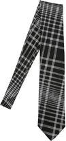 Vivienne Westwood 8.5cm Asymmetric Plaid Silk Jacquard Tie