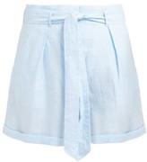 Loup Charmant Tellin High-rise Linen Shorts - Womens - Blue