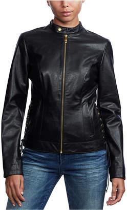 True Religion Laced-Side Moto Jacket