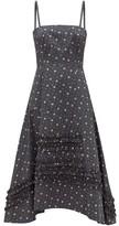 Molly Goddard Demi Ruffled Floral-print Cotton Dress - Womens - Black Print