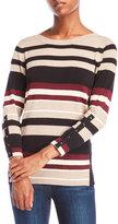 Joseph A Stripe Crew Neck Sweater