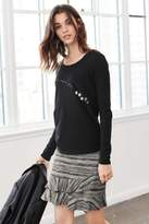 Next Womens Monochrome Jacquard Skirt - Black
