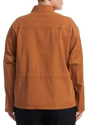 Lafayette 148 New York, Plus Size Jessa Stretch-Cotton Jacket