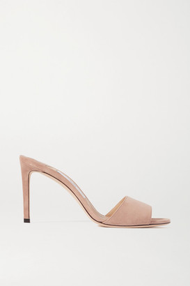 Jimmy Choo Stacey 85 Suede Mules