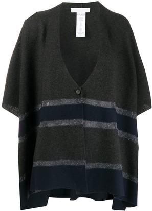 Fabiana Filippi 3/4 Sleeves Striped Cardigan