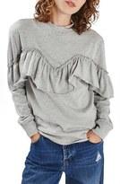 Topshop Women's Jersey Ruffle Sweatshirt