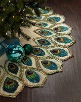 Kim Seybert Peacock Christmas Tree Skirt