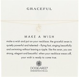 Dogeared Graceful Swan Make A Wish Thread Necklace