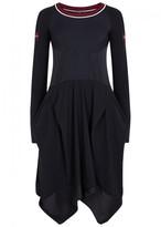 High Bocarolle Draped Jersey Dress