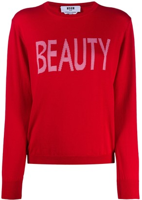 MSGM Beauty intarsia-knit jumper