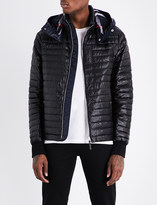 Burberry Down-filled quilted hooded shell jacket