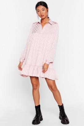 Nasty Gal Womens Jacquard to Forget Polka Dot Mini Dress - Apricot