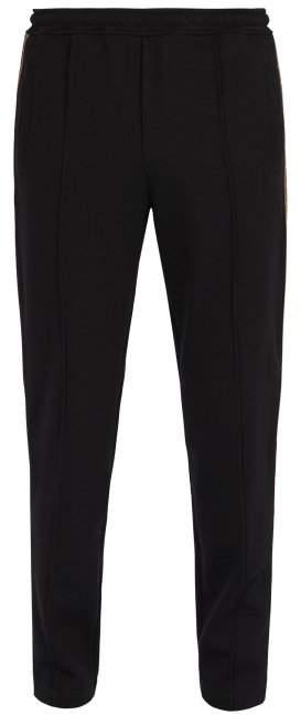 Fendi Ff Logo Trimmed Track Pants - Mens - Black