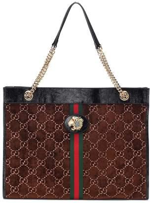 Gucci Large Rajah velvet tote