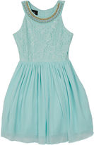 Byer California Not Applicable Short Sleeve Party Dress - Big Kid Girls