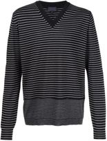 Lanvin striped v-neck jumper