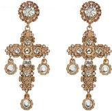 Portmans Ornate Cross Drama Earrings