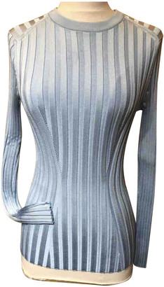 Hermes Blue Viscose Knitwear