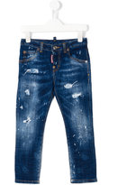 DSQUARED2 distressed jeans - kids - Cotton/Spandex/Elastane - 8 yrs