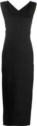 Antonelli Sleeveless Fitted Midi Dress