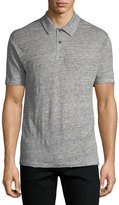 Rag & Bone Owen Heathered-Knit Linen Polo Shirt