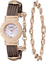 Charriol Women's 028RP543462 St Tropez Analog Display Swiss Quartz Brown Watch