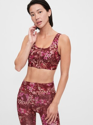 Gap GapFit Sculpt Medium Impact Zip Front Sports Bra