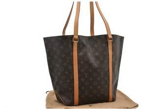 Louis Vuitton Shopping Bag Louboutin Brown Cloth Handbags
