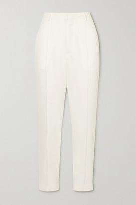 Isabel Marant Rijo Crepe Straight-leg Pants - White