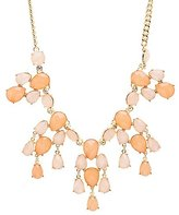 Charlotte Russe Colored Faceted Stone Bib Necklace