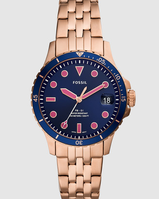 Fossil FB-01 Rose Gold-Tone Analogue Watch