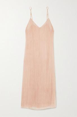 Skin Shani Crinkled Silk-chiffon Chemise - Pink
