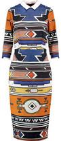 Stella Jean Printed Stretch-Cotton Crepe Midi Dress